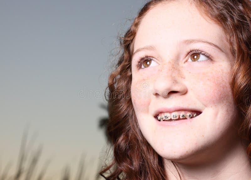 Headshot Lächeln lizenzfreies stockfoto