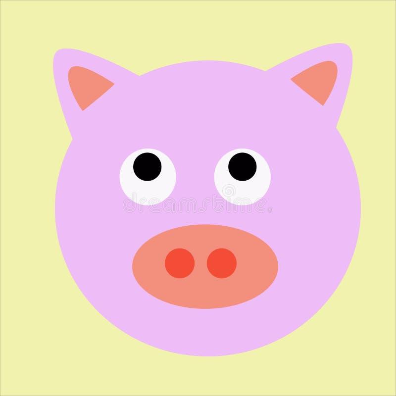 Headshot lindo del cerdo fotos de archivo