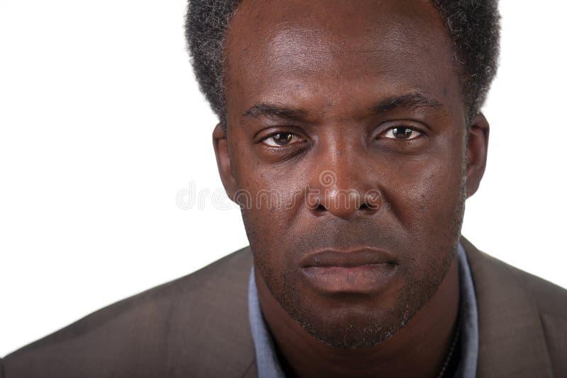 Headshot masculino preto imagens de stock