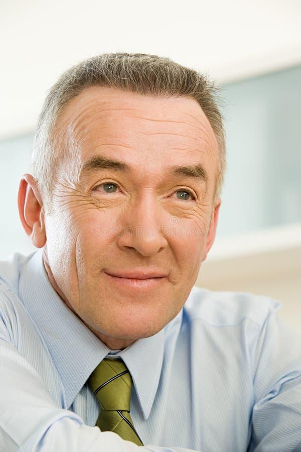 Headshot of a mature businessman royalty free stock image