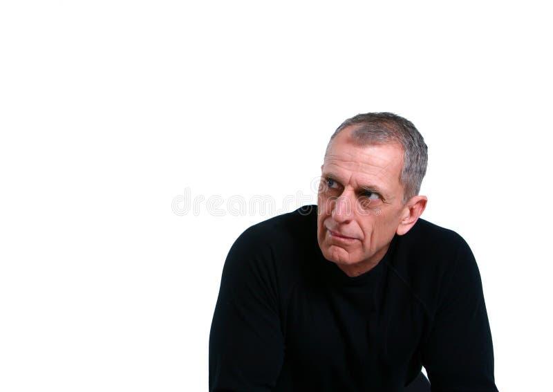 Headshot of mature man royalty free stock photo