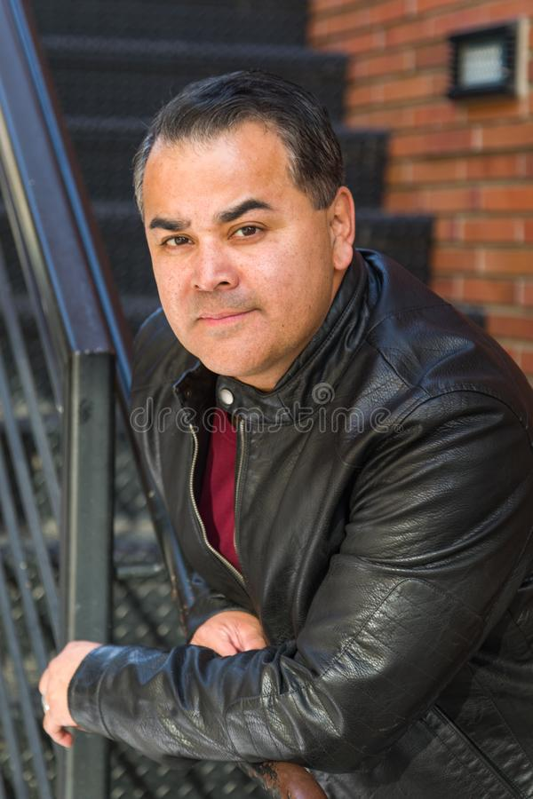 Headshot Portrait of Handsome Hispanic Man royalty free stock image