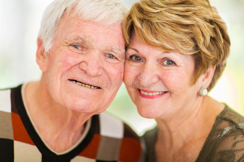 Headshot senior couple stock photography
