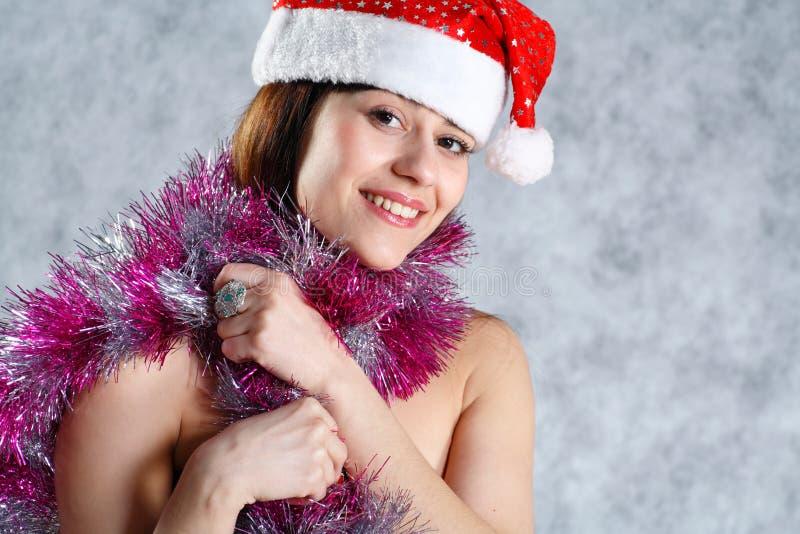 Headshot 'sexy' da face de Santa imagem de stock royalty free