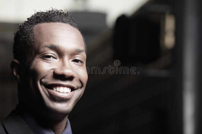 Headshot of a smiling businessman stock photo