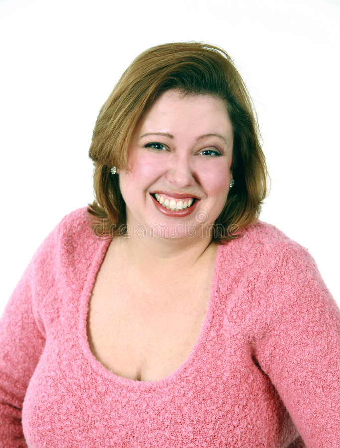 headshot uśmiechnięta kobieta fotografia stock