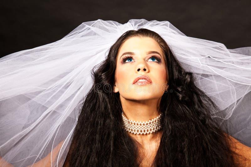 Headshot van bruid royalty-vrije stock foto