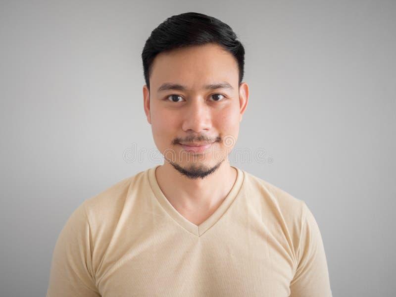 Headshot van de gelukkige Aziatische mens royalty-vrije stock fotografie