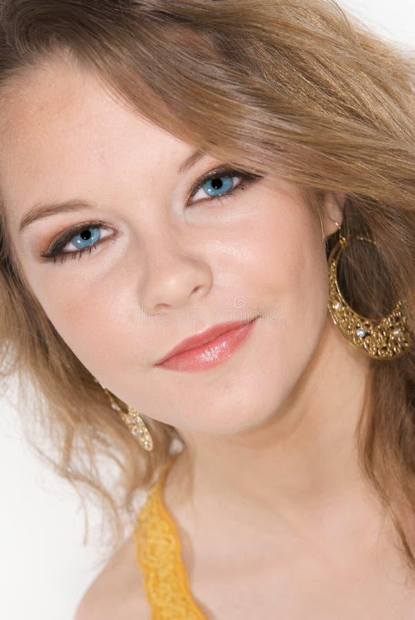 Headshot van Mooie Tiener met Make-up royalty-vrije stock afbeeldingen
