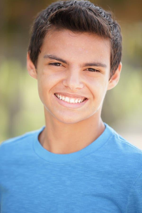 Headshot van tiener het glimlachen stock foto