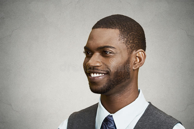 Headshot of a young happy man stock photo