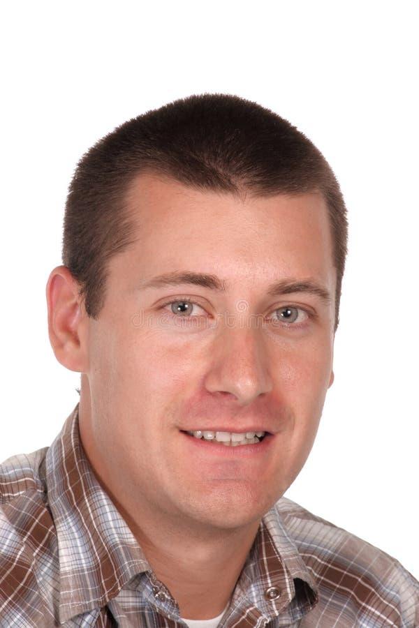 Headshot of a youthful lad stock images
