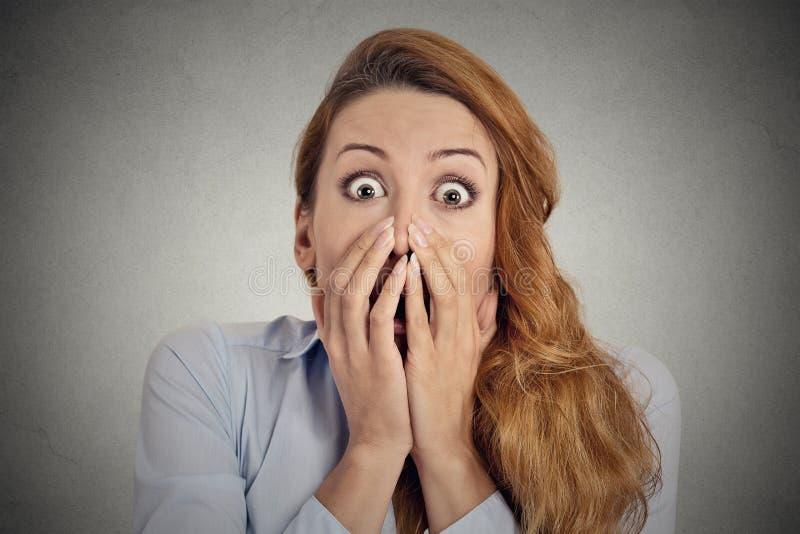 Headshot Zaniepokojona kobieta zdjęcia stock