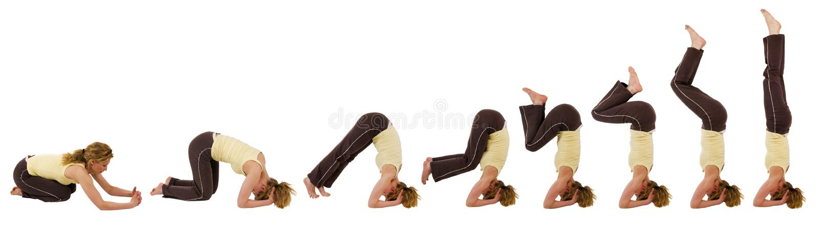 Headstand_sequence foto de stock royalty free