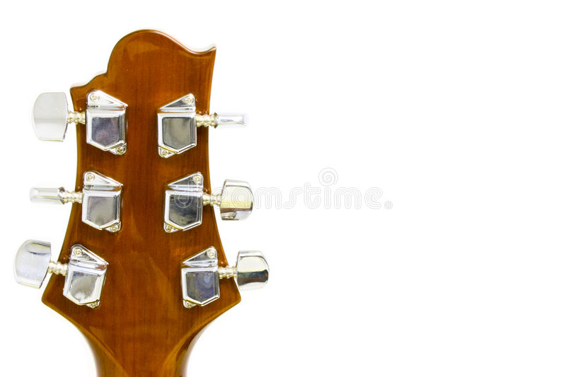 headstock гитары стоковое фото rf