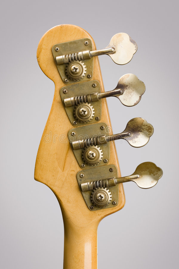 Headstock da guitarra baixa foto de stock royalty free