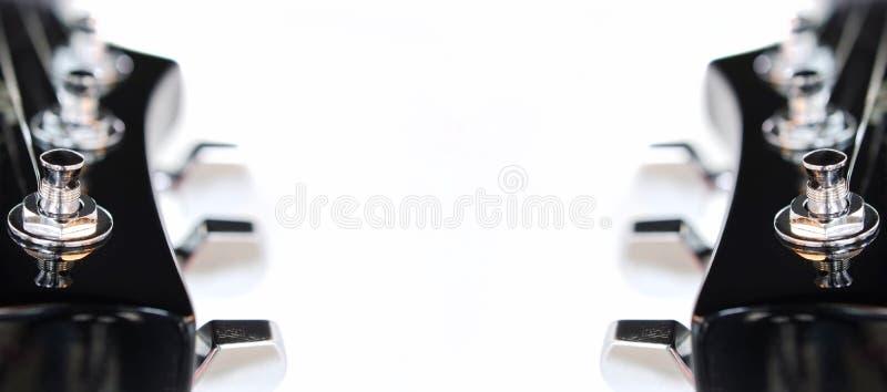 Headstock da guitarra elétrica imagem de stock