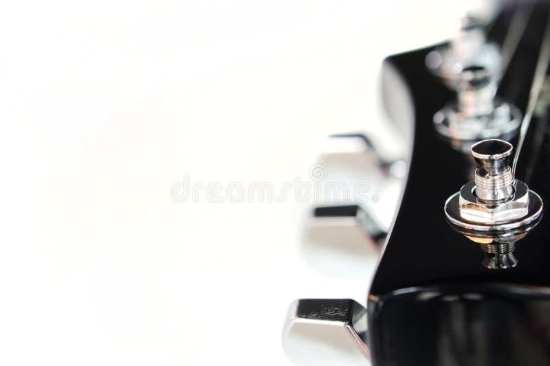 Headstock da guitarra elétrica fotos de stock