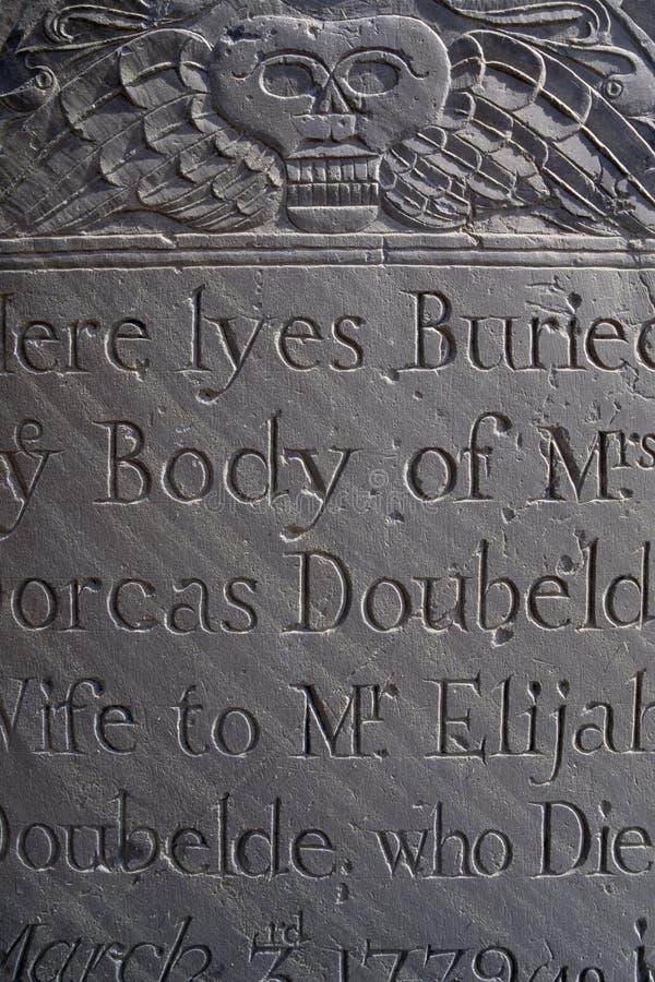 headstone старый стоковое изображение