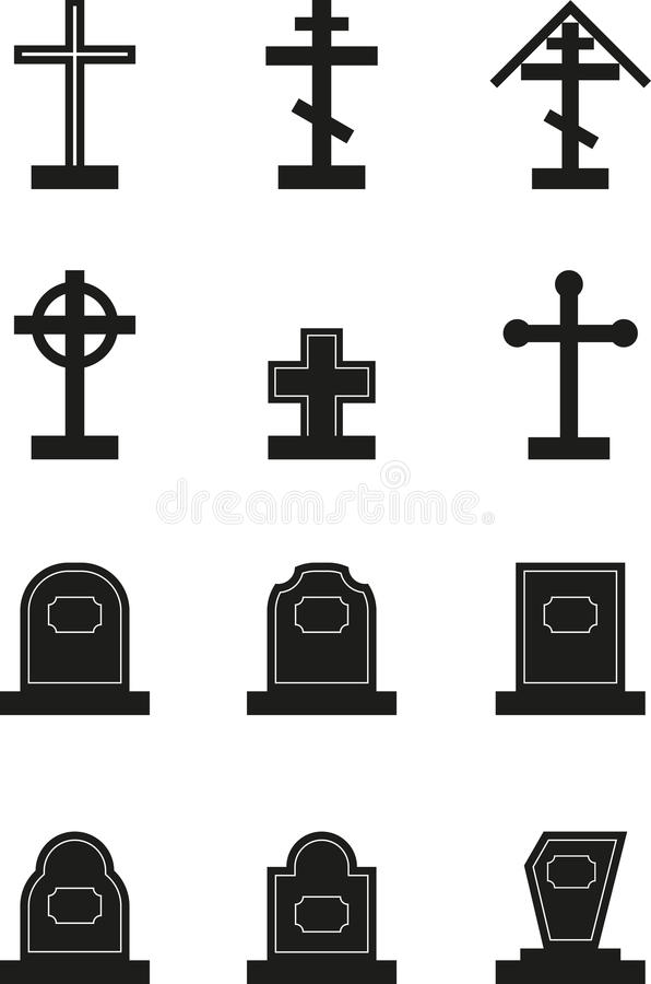 headstone illustration libre de droits