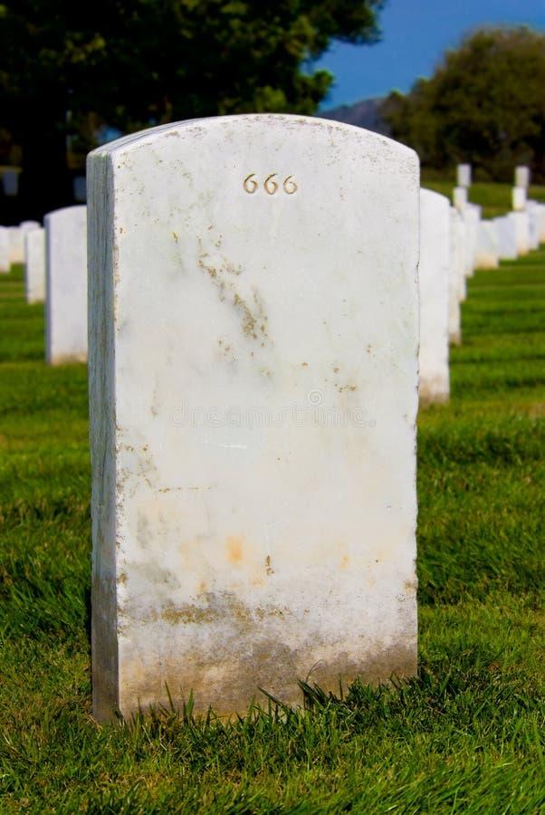 Headstone 666 imagem de stock royalty free