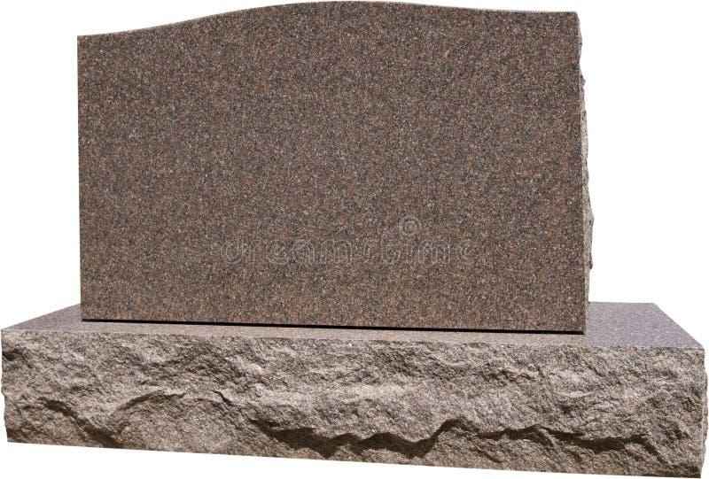 Headstone grave in bianco immagini stock