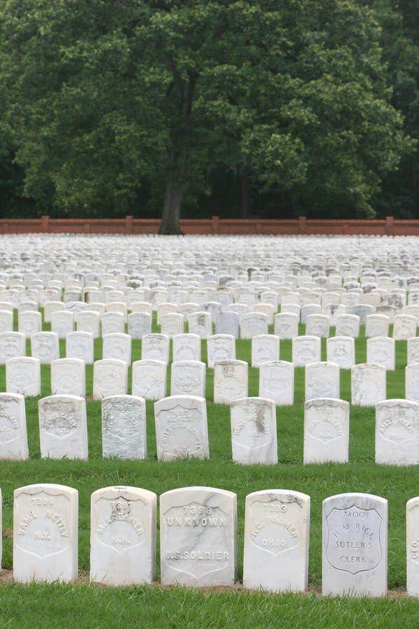 Headstones da guerra civil imagens de stock