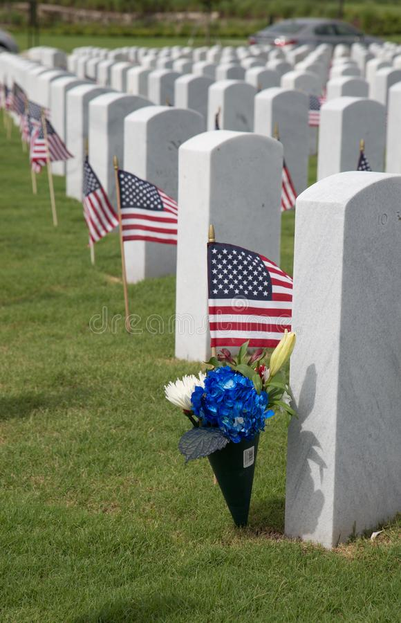 Cape Canaveral National Cemetery in Florida stock image