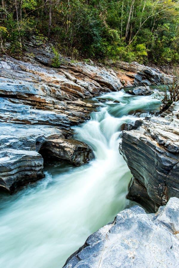 Headstream w Khan parka narodowego chaingmai Tajlandia obrazy royalty free