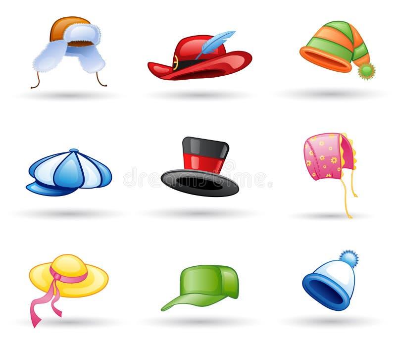 headwear盖帽的帽子 向量例证