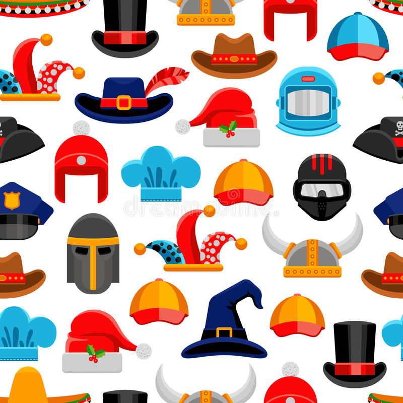 Free Headwear Seamless Pattern Royalty Free Stock Photography - 69614217