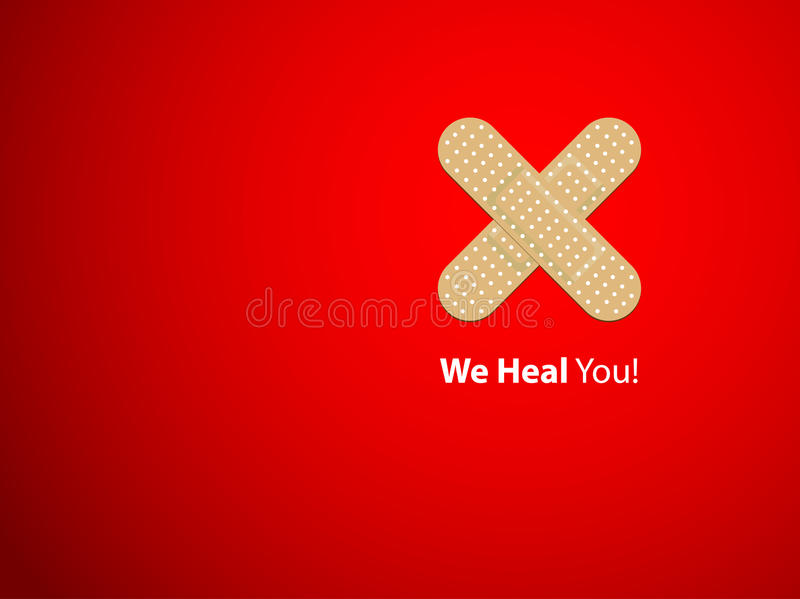 We heal you - background vector illustration