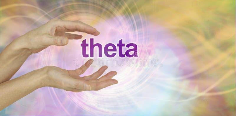 Healer working with theta energy royalty free stock photos