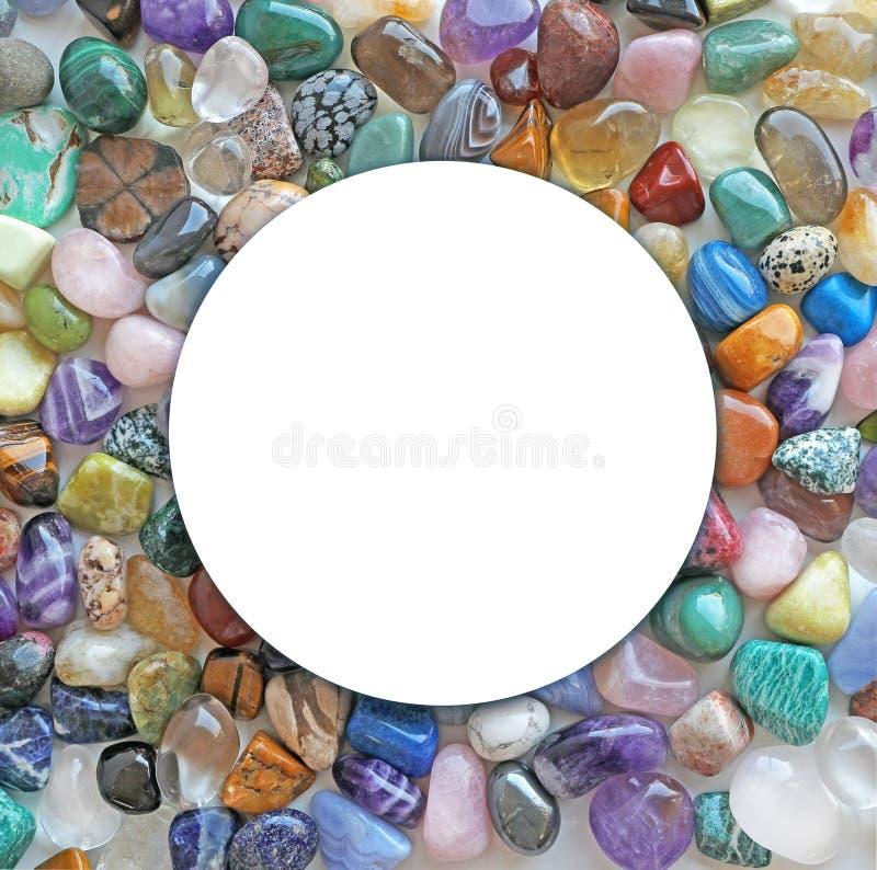 Healing Crystal Circle Surround Border royalty free stock photography