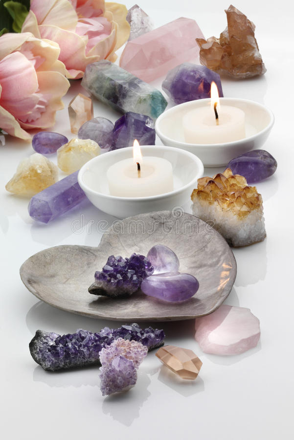 Free Healing Crystals Royalty Free Stock Images - 45891319
