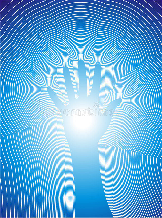 Healing hand with reiki lines stock photos
