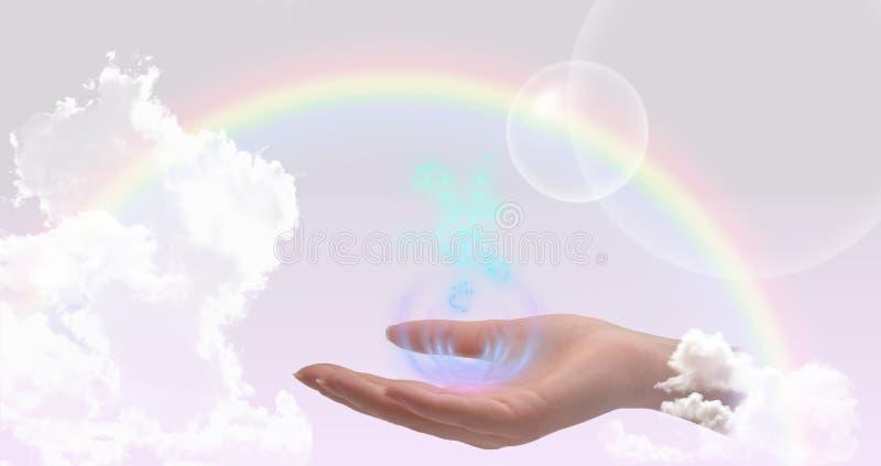 Healing hand website header/banner royalty free stock photos