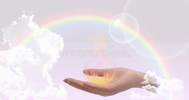Healing hand website header/banner royalty free stock photography