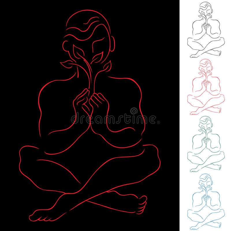 Download Healing Meditation stock vector. Image of exercise, relaxing - 15253202