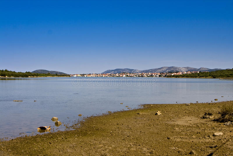 Healing mud of the Ivinj shore stock photo