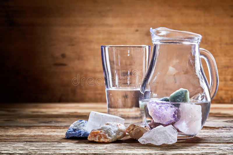 Healing stones in water royalty free stock images