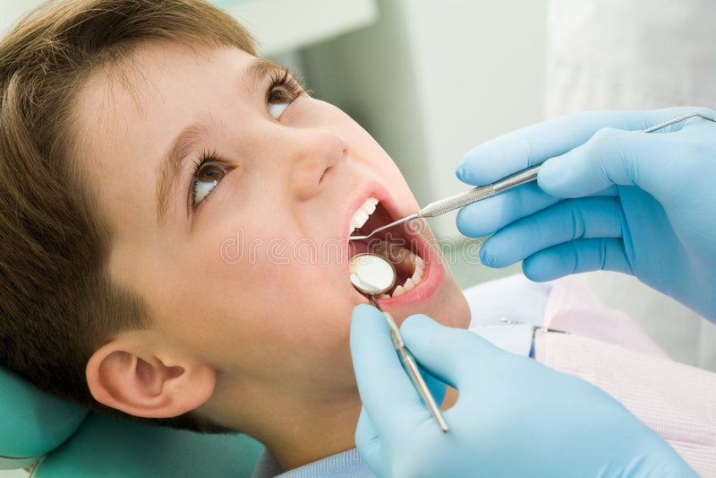 Healing teeth royalty free stock photo