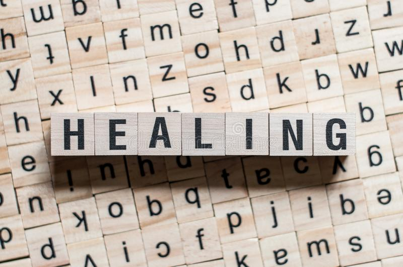 Healing word concept royalty free stock photography