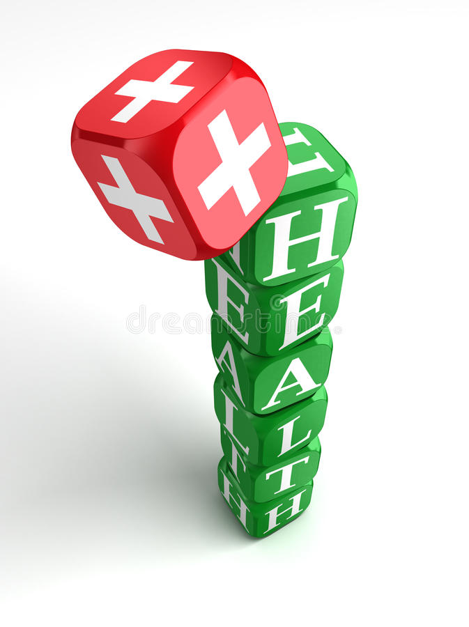 Download Health 3d Colorful Cube Tower Stock Illustration - Image: 21886403