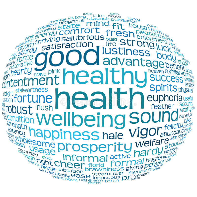 Free Health And Wellbeing Tag Or Word Cloud Stock Images - 15451484