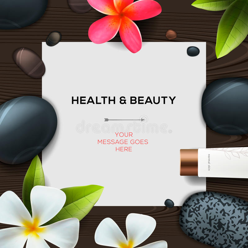 Health and beauty template royalty free illustration