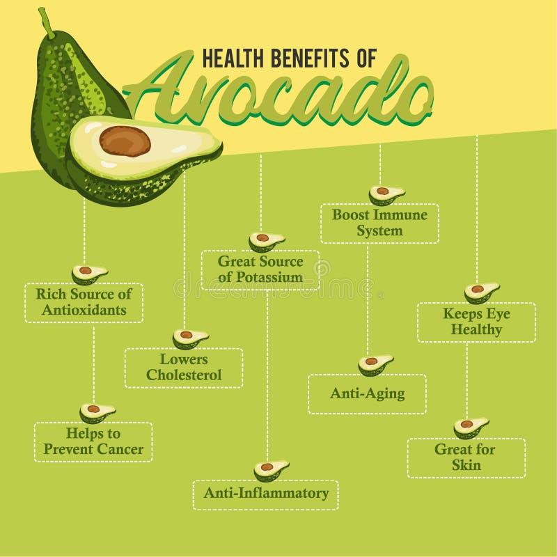 Health Benefits of Avocado. Fresh Avocado. royalty free stock photo
