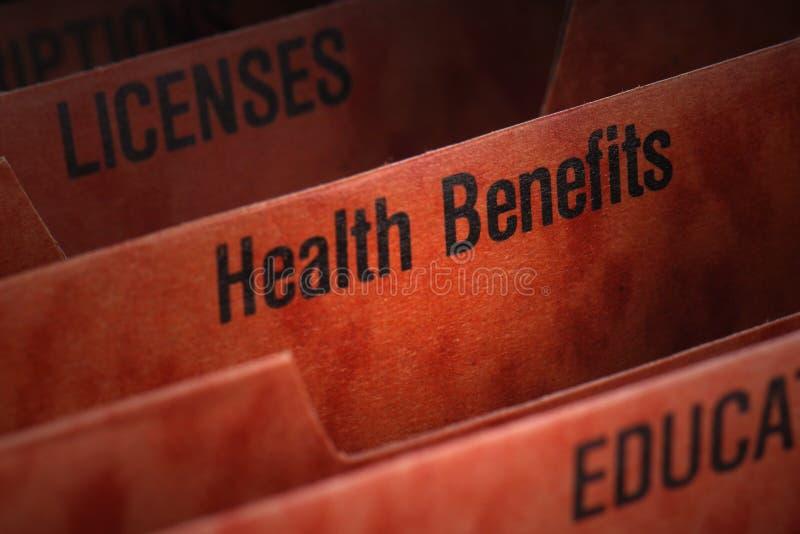 Health Benefits File stock photos