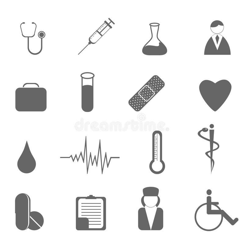 Free Health Care And Medical Symbols Royalty Free Stock Image - 15833116