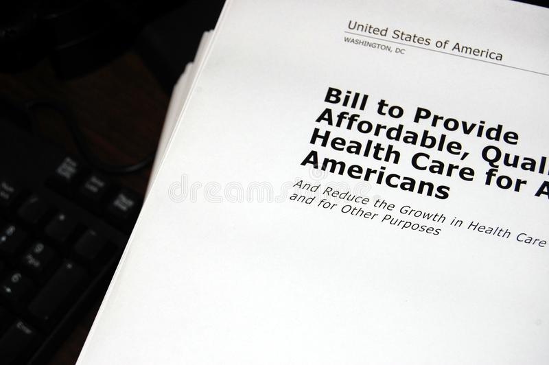 Download Health Care Bill stock image. Image of papers, black - 11588063